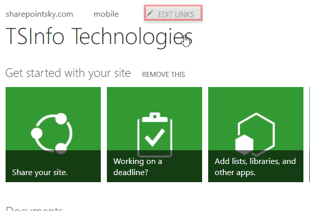 sharepoint 2013 top link bar customization
