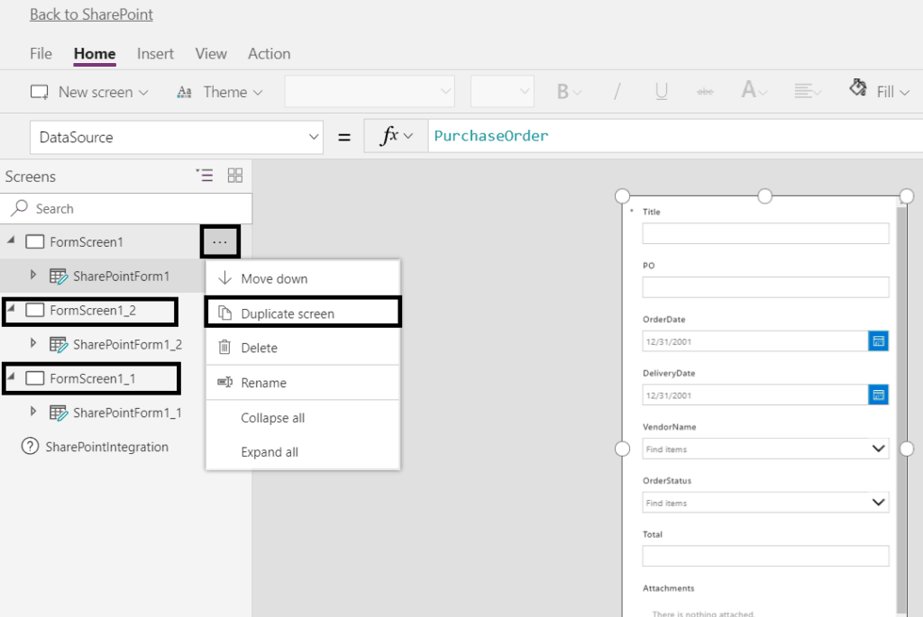 powerapps custom forms to look more like infopath