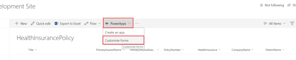 How to create tabs in PowerApps in SharePoint Online List