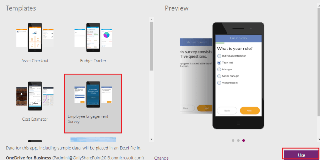 how to make a survey in powerapps