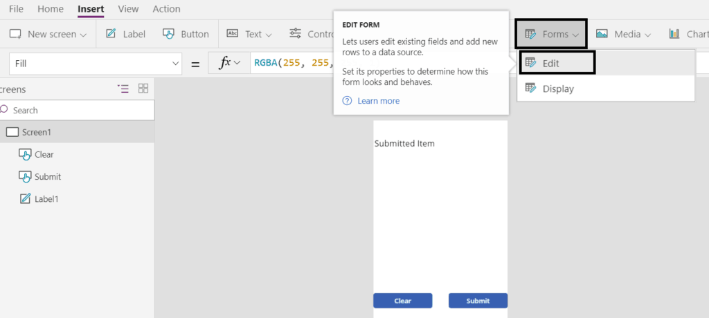 PowerApps submit form to SharePoint Online list - SharePointSky
