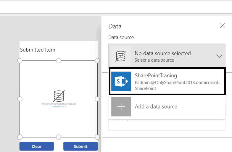 powerapps insert data into sharepoint list