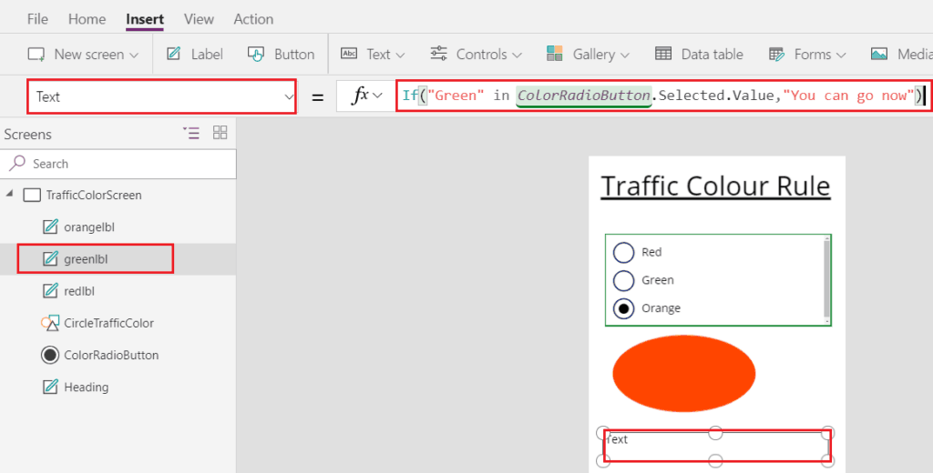 PowerApps radio button values