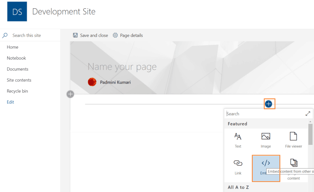 embed powerapps in sharepoint online