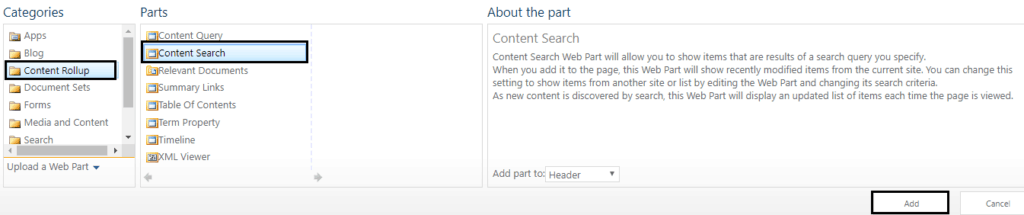 sharepoint 2013 content search web part