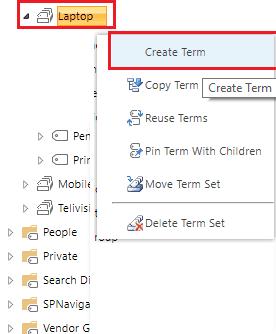 create term sharepoint online