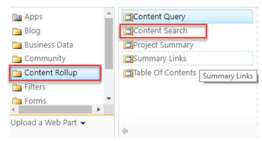 content search web part sharepoint online