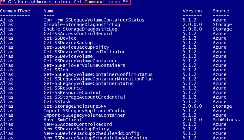 powershell command get-command
