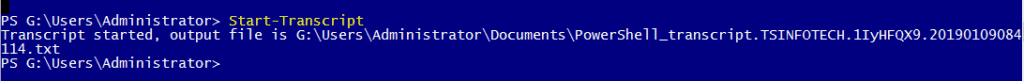 powershell basic commands