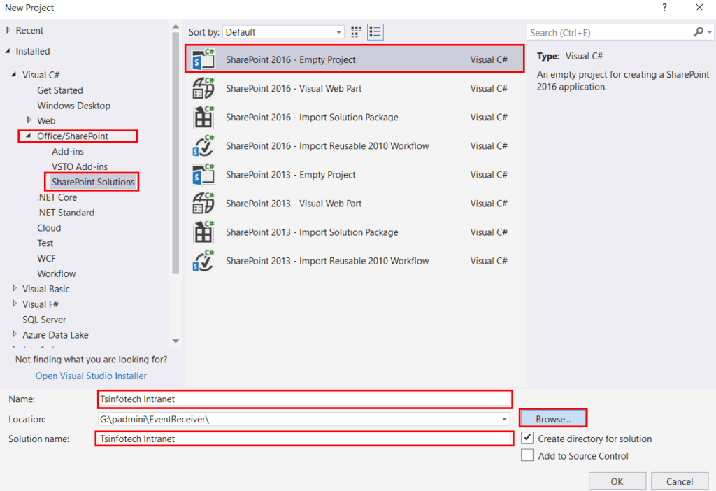SharePoint 2016/2013 event receiver example using Visual