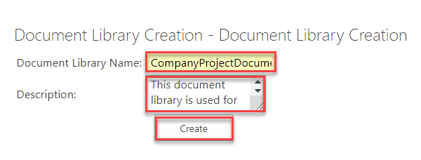 programmatically create sharepoint document library c#