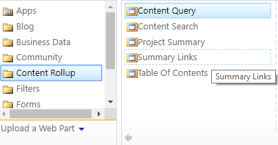 sharepoint 2016 content query web part not available