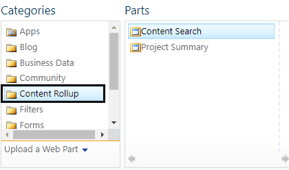 sharepoint 2013 content query web part missing