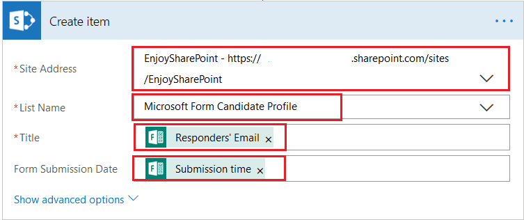 Automatically create a profile for a new candidate in Microsoft Flow template