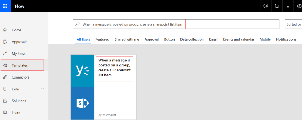 When a message is posted on a group, create a SharePoint list item
