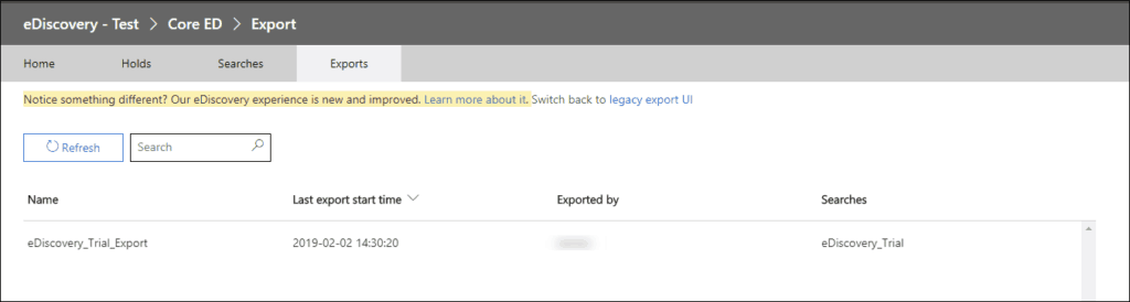 steps to export office 365 mailboxes to pst using ediscovery
