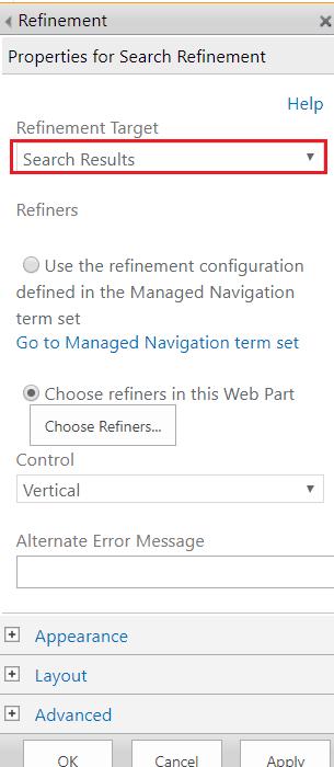 refinement web part SharePoint online