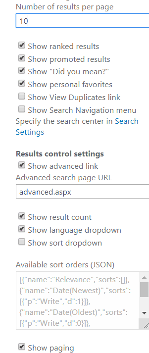 search result web part SharePoint 2013