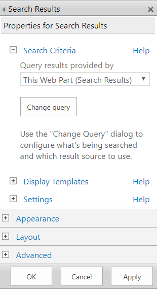search result web part SharePoint online
