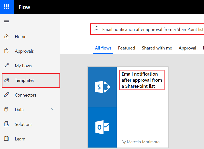 Email notification after approval from a SharePoint list in flow