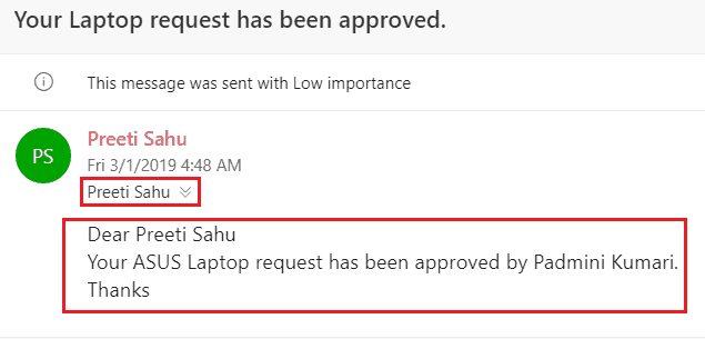 Microsoft Flow When an item is created in SharePoint List, Send approval, Create item