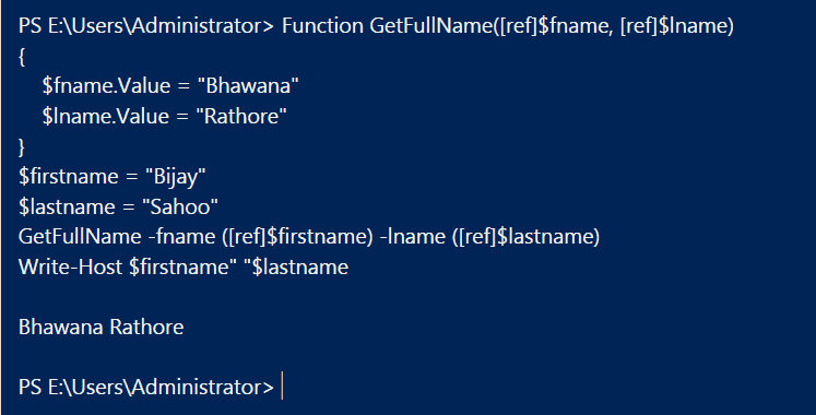 PowerShell Pass by reference multiple parameters