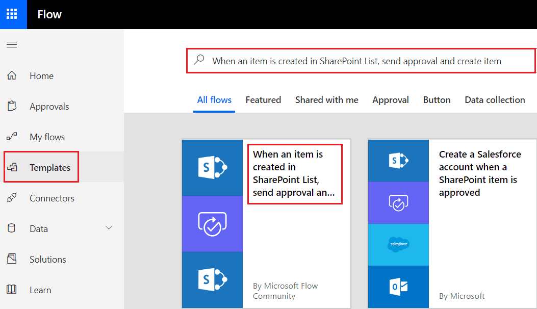 When an item is created in SharePoint List, Send approval and create item