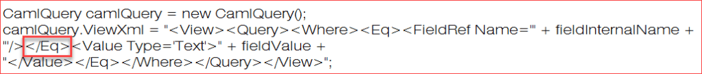 cannot complete this action. please try again. sharepoint online caml