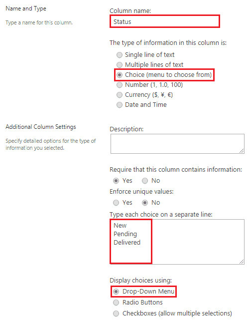 create choice field in sharepoint list programmatically uisng pnp core csom library