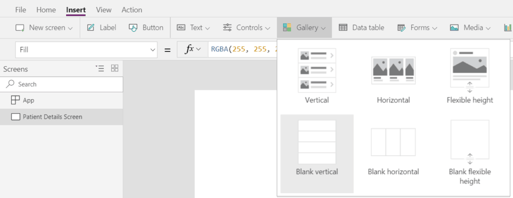 PowerApps: Create a navigation menu using the Gallery