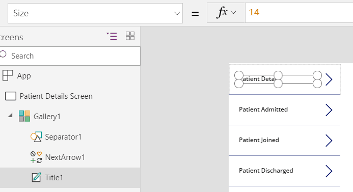 powerapps navigation using gallery control