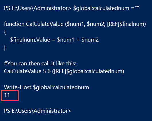 set a PowerShell global variable from a function by passing the global variable as a parameter to the function