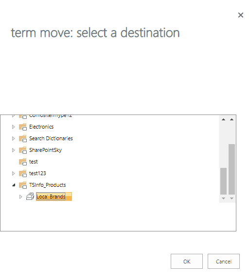 sharepoint online move term