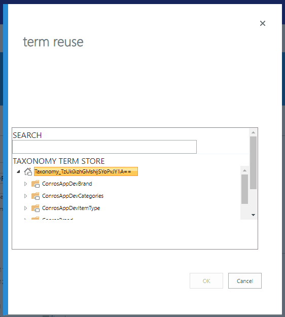 sharepoint online reuse terms