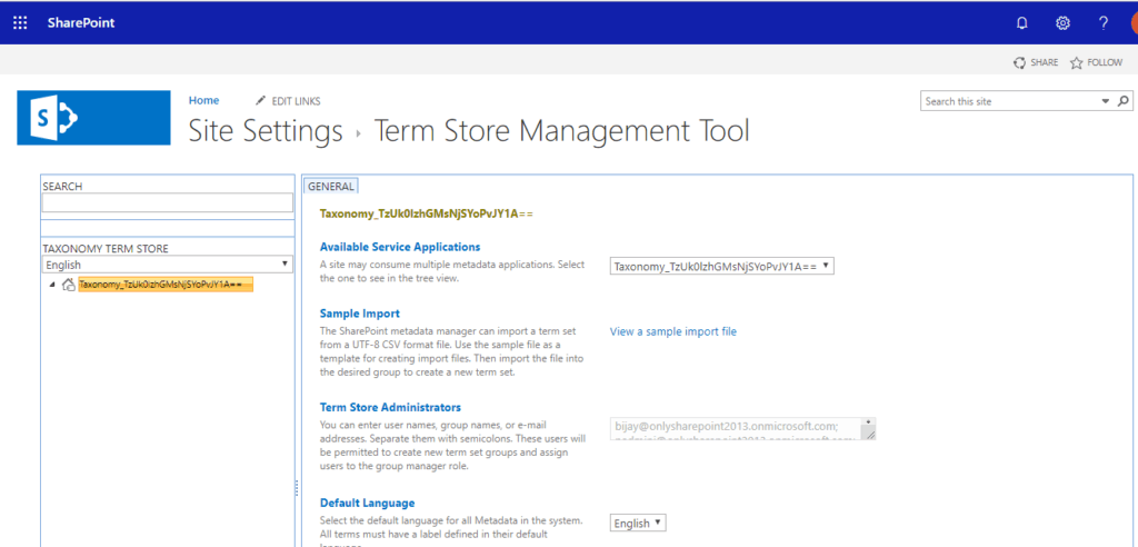 how to create term group in sharepoint online