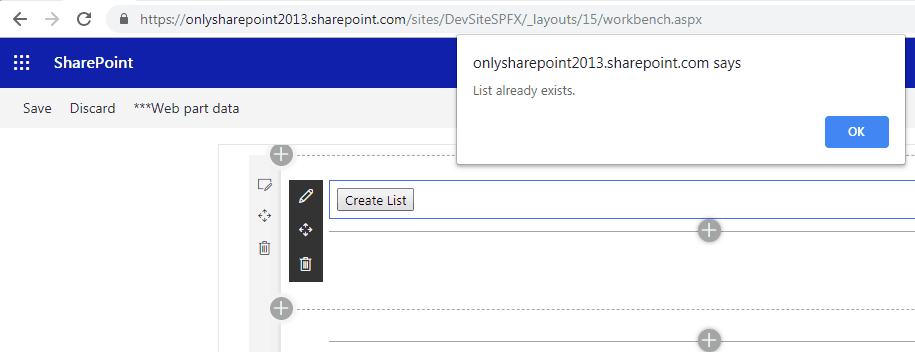 create sharepoint list using spfx