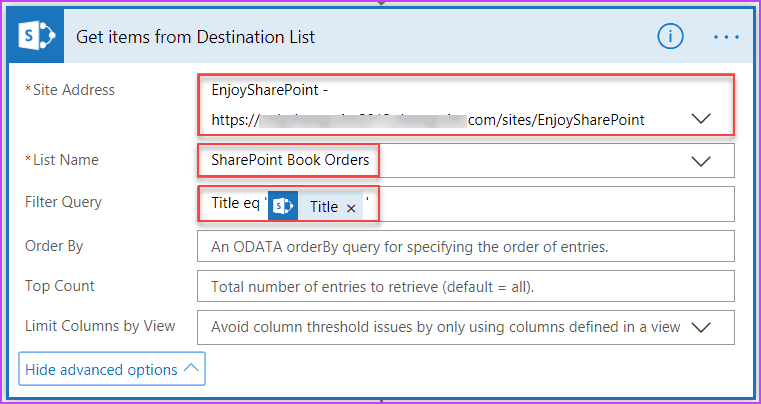 microsoft flow copy list item to another list