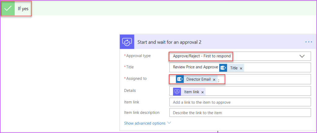start and wait for an approval microsoft flow