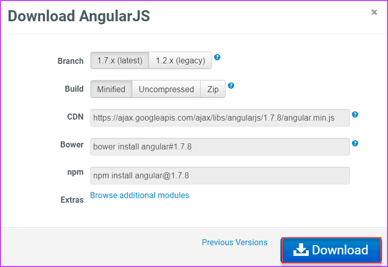 angularjs installation steps
