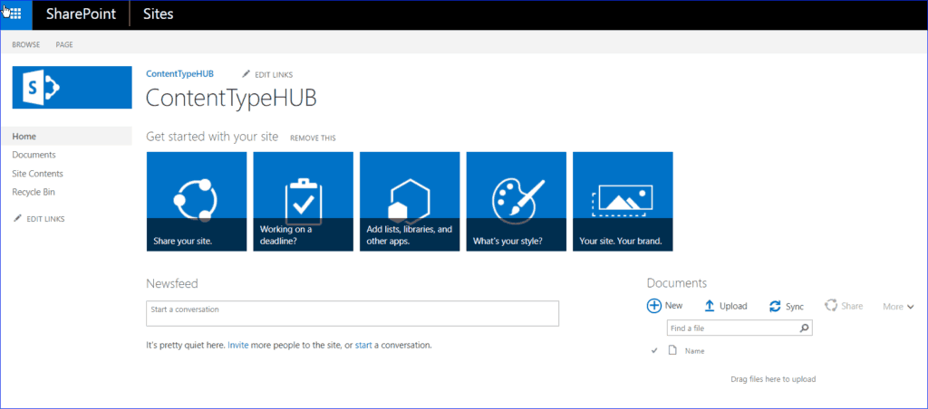 content type hub in sharepoint 2013