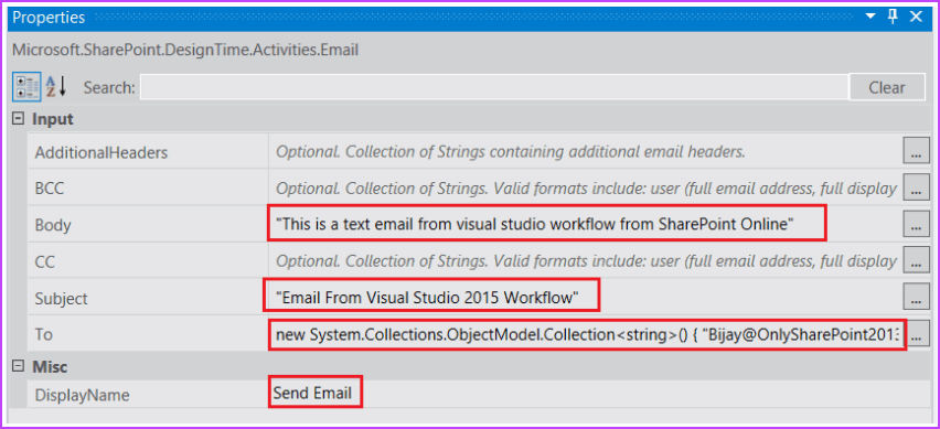 create a workflow using visual studio
