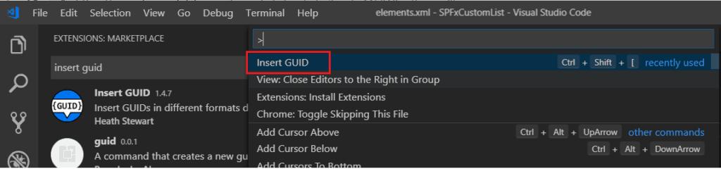 visual studio code extension guid