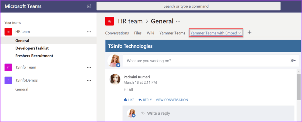 what is yammer and how does it work