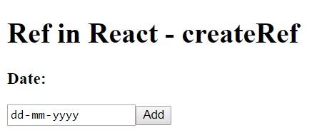 React createref example