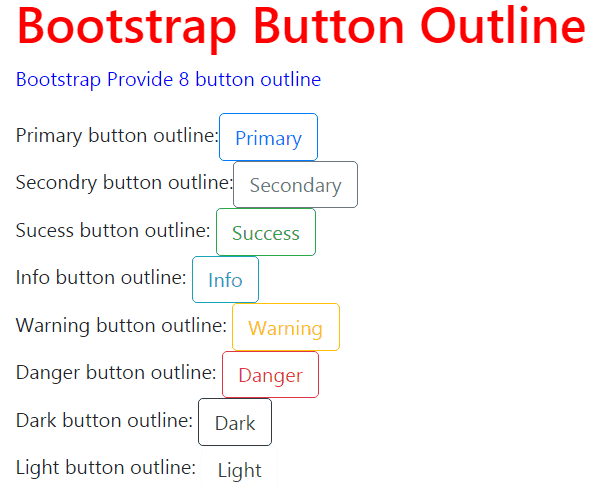 bootstrap button outline