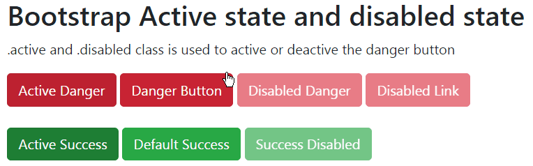 bootstrap button states