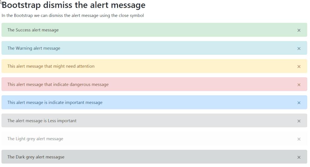 bootstrap close alert