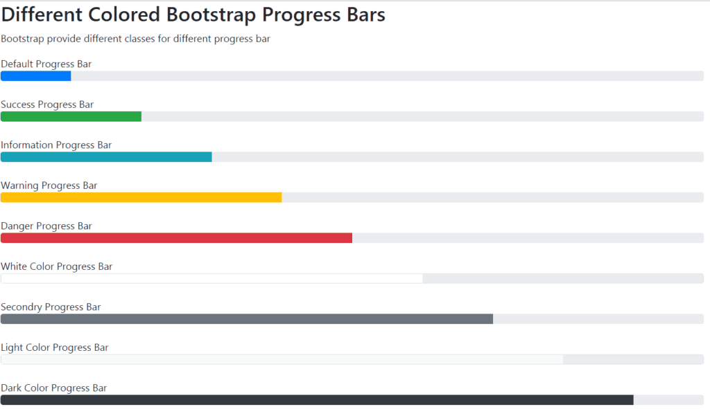 bootstrap multi color progress bar