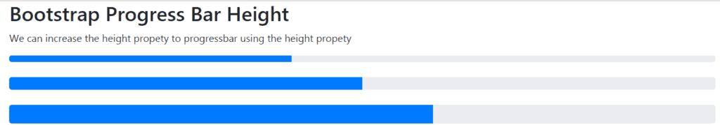 bootstrap progress bar height