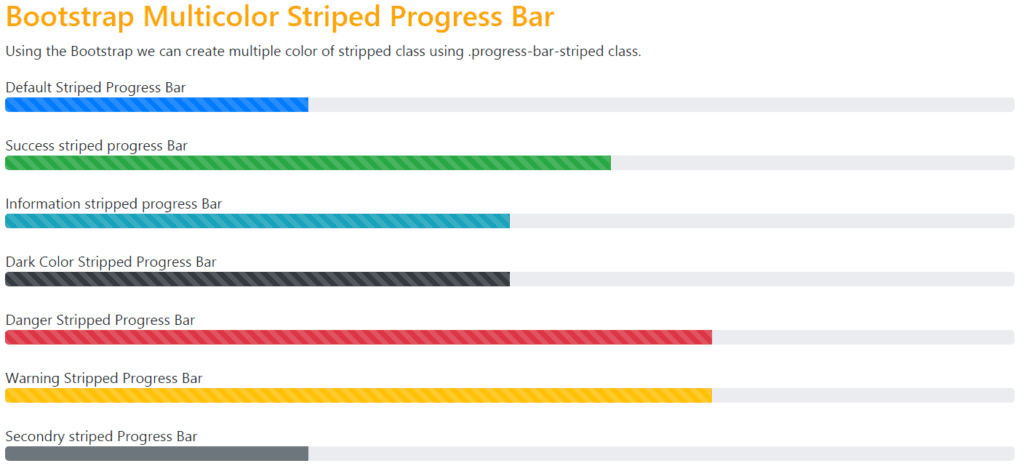 bootstrap-striped-progress-bar